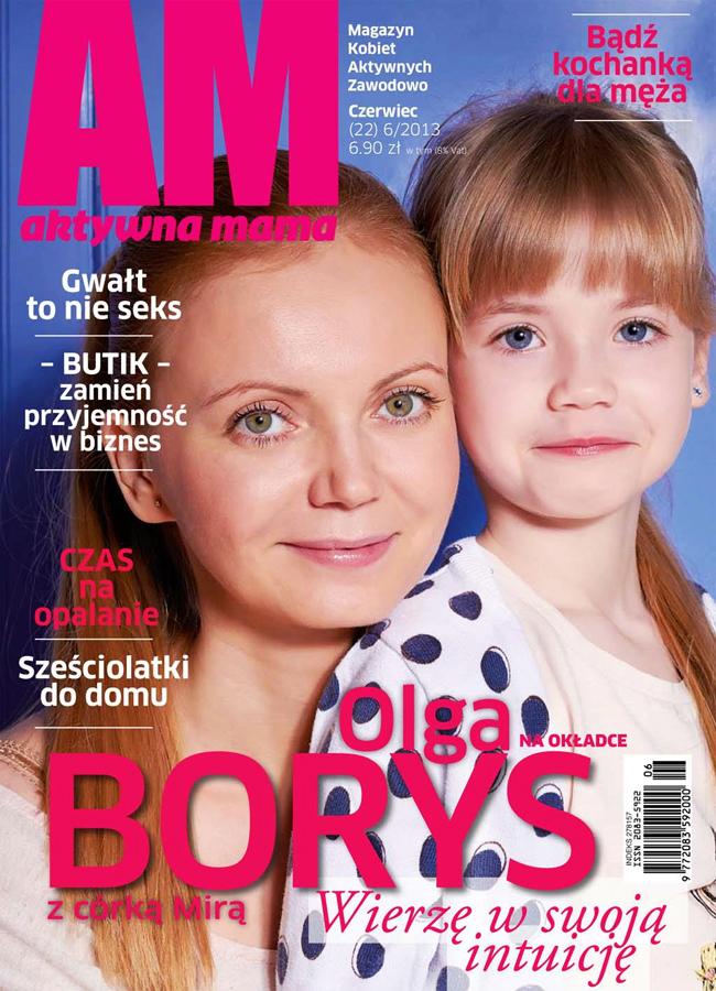Olga Borys, sesja dla miesięcznika Aktywna Mama, Aktywna Mama - czerwiec 2013