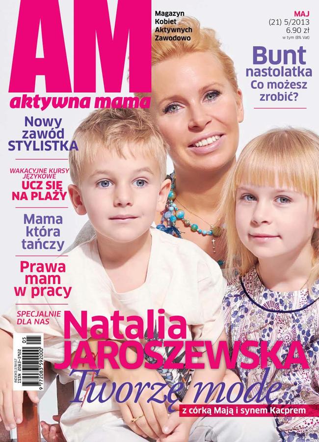 okładka Aktywnej Mamy - maj 2013 - Natalia Jaroszewska