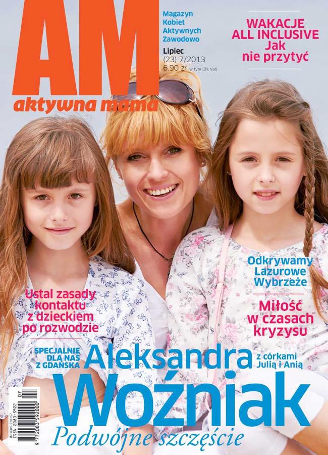 okładka Aktywnej Mamy - lipiec 2013 - Aleksandra Woźniak